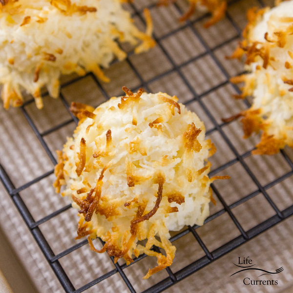 2 Ingredient Coconut Macaroons perfect for last minute invite to a holiday party where you want to take something homemade but don't really have time to plan anything out