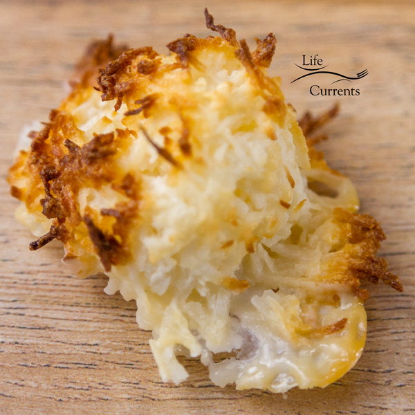2 Ingredient Coconut Macaroons - let the batter sit so the milk doesn't seep out