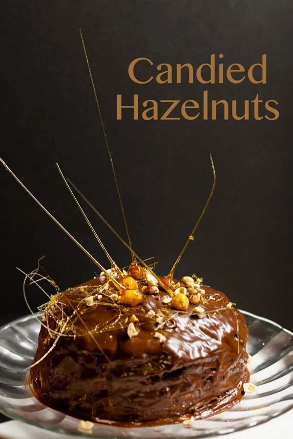 Candied Hazelnuts are a great, simple way to make any dessert look fancy.