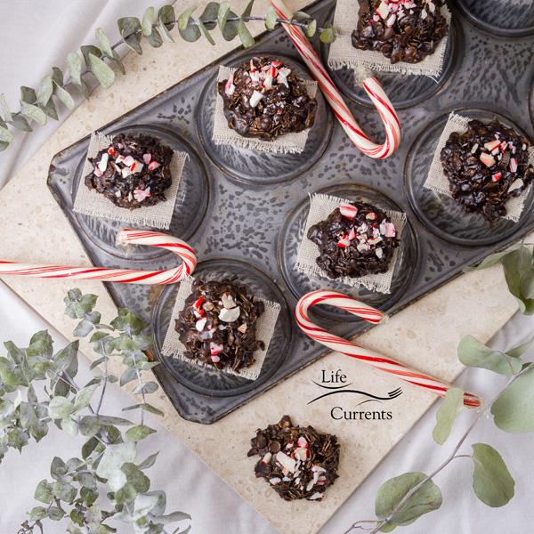 No Bake Peppermint Mocha Candy Cookies