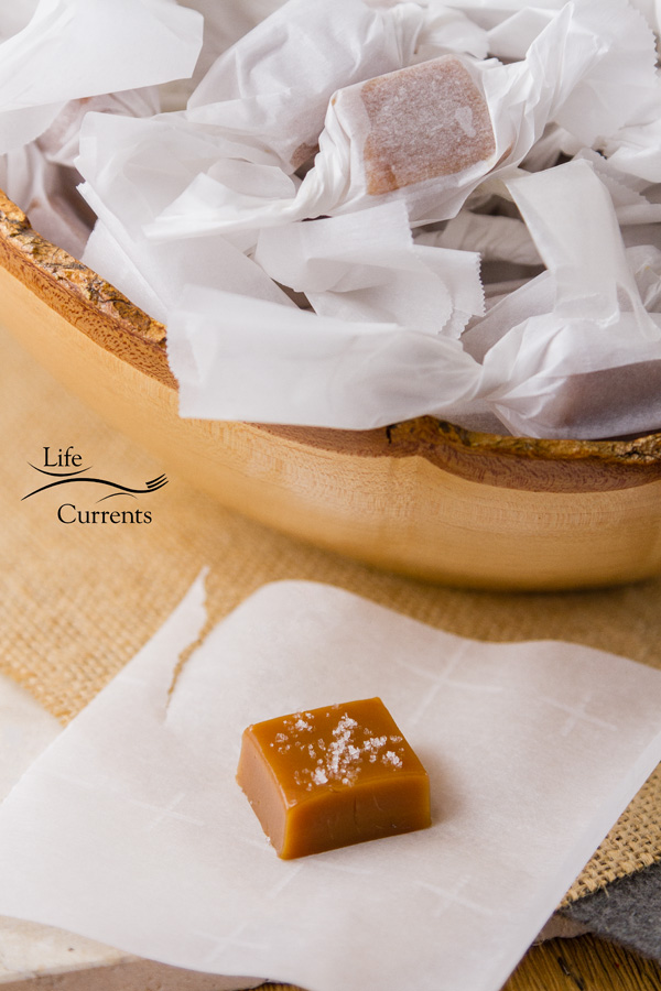 Grandma's Old-fashioned Cream Caramels - wrap them individually for gift giving and storage