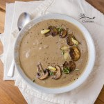 Roasted Garlic Mushroom Soup - All these flavors coming together on your spoon will make for a delicious comforting meal.
