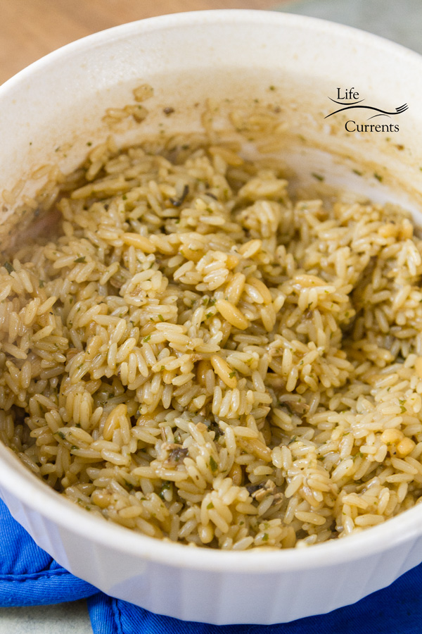 Vegetable Rice Casserole - rice pilaf mix