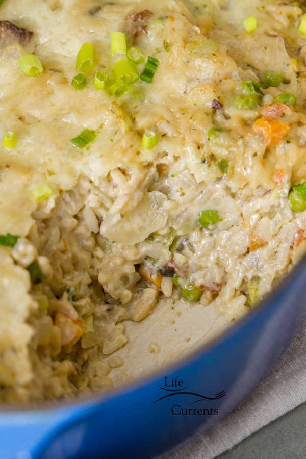 Vegetable Rice Casserole is perfect for busy nights