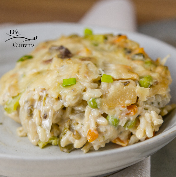 Vegetable Rice Casserole - it's easy on the cook, making it a perfect weeknight meal