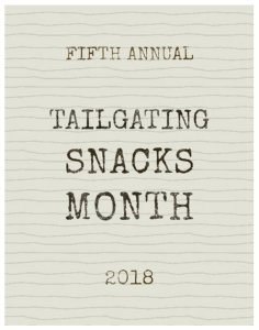 October is Tailgating Snacks Month 2018 with a recipe for Healthy Baked Parmesan Zucchini Fries