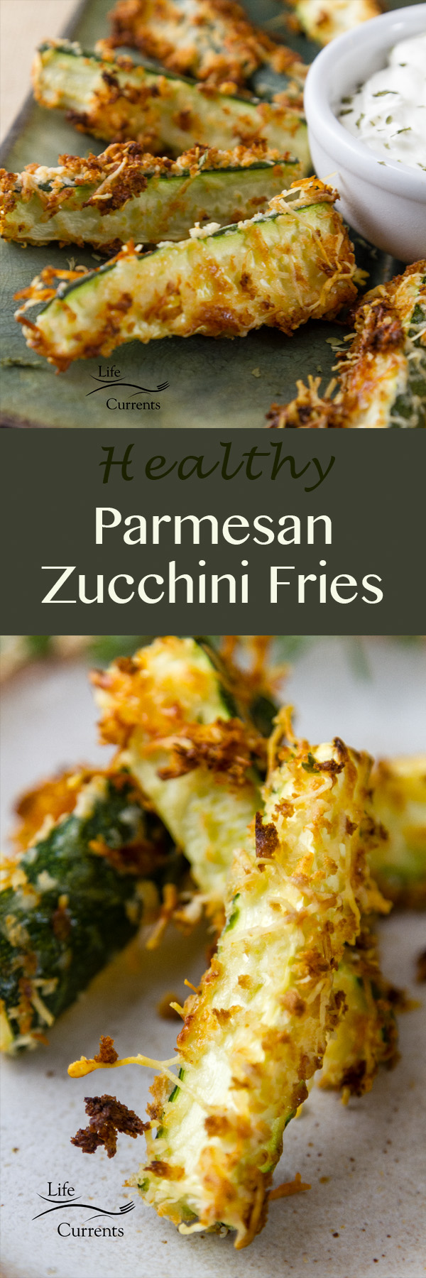 These healthy baked zucchini fries are a nice option for tailgating snacks month.
