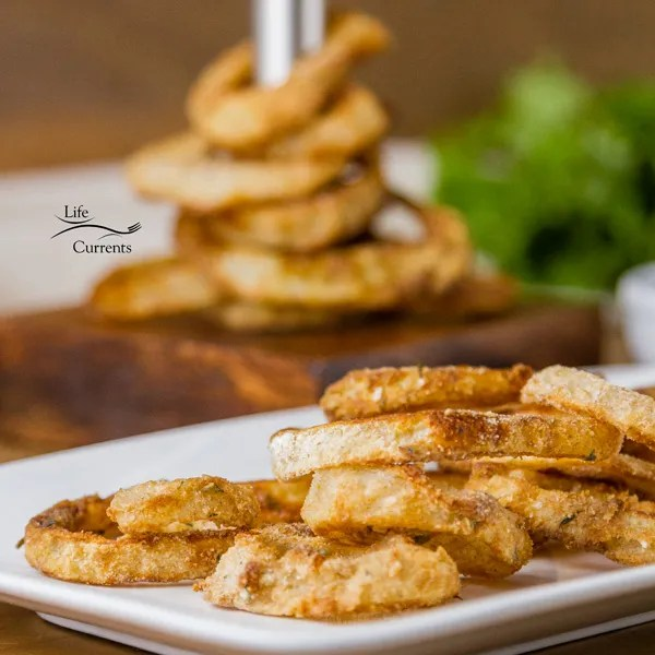 Homemade Oven Baked Onion Rings are fairly easy to make, just a couple of steps, and you have a delicious crunchy onion ring with lots of flavor and no oily mess.