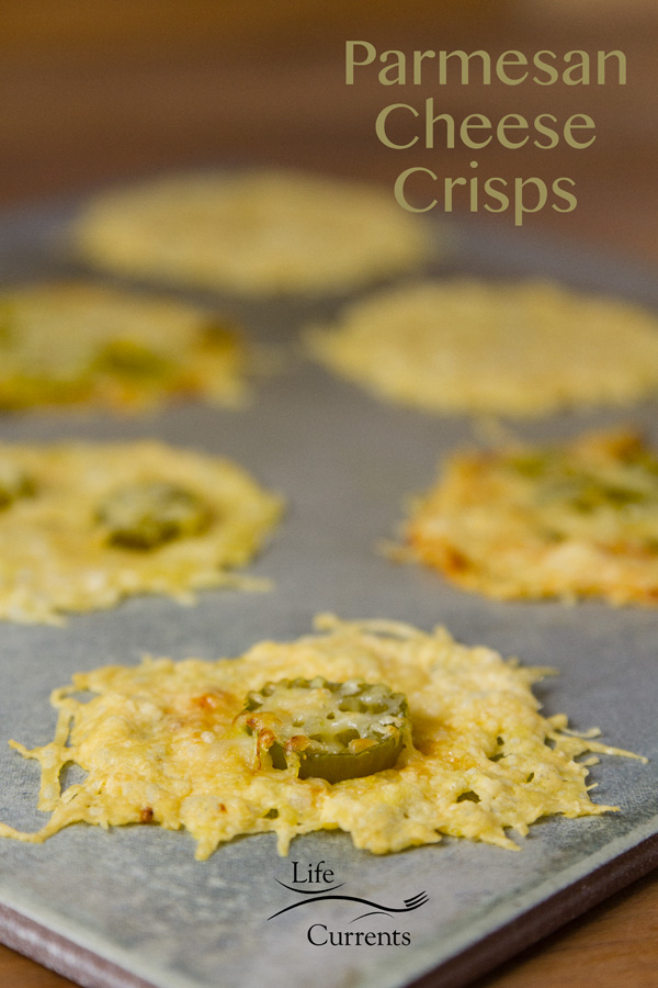 These Parmesan Cheese Crisps are perfect little appetizers, great on a salad as a little topper, or try them on the side of a dinner for a little crunchy extra.