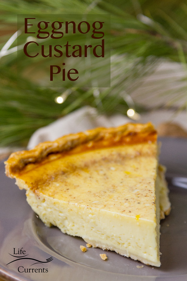 Eggnog Custard Pie Recipe #Christmas #dessert