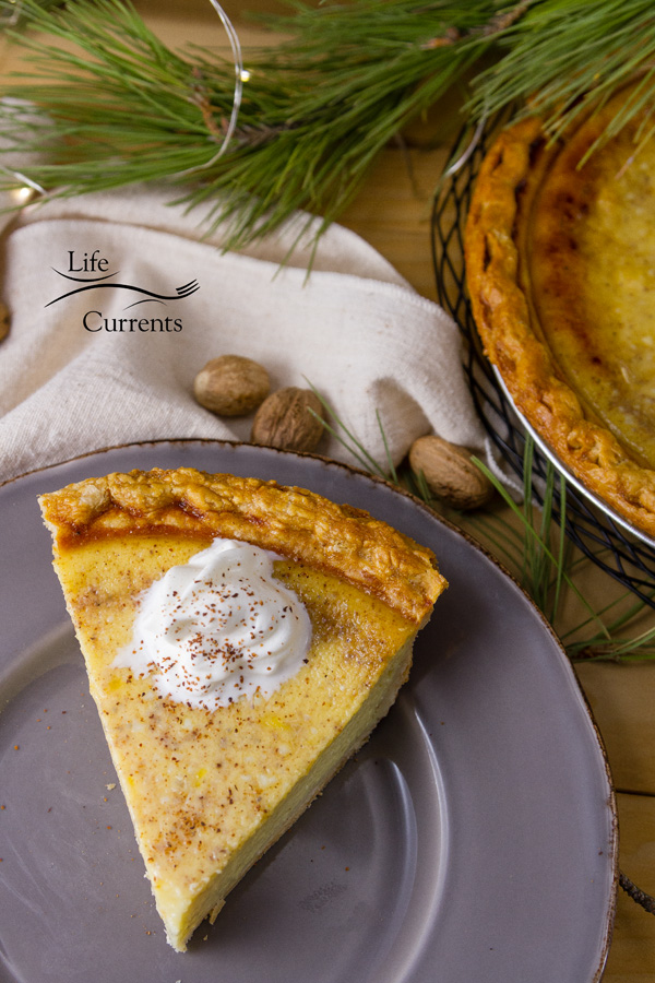 Eggnog Custard Pie is a delicious, easy to make, silky egg custard holiday pie that's filled with the wonderful festive flavors of the season