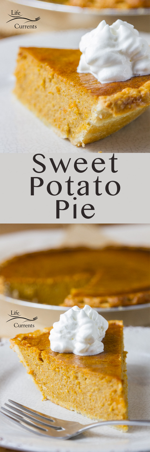 The Sweet Potato Pie is an old-fashioned Thanksgiving pie with a rich flavor and great texture. Of course, that doesn't mean you couldn't make it all year round if you wanted to!