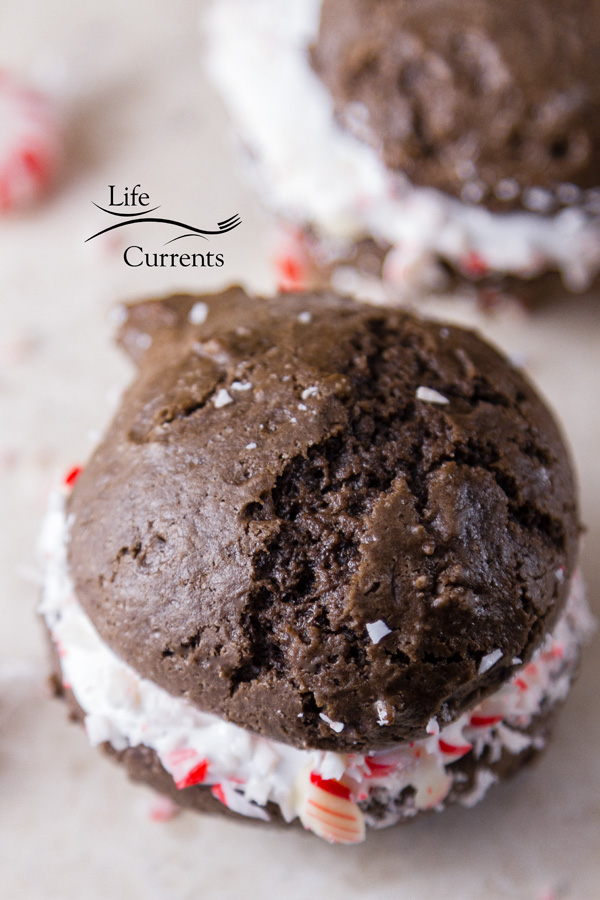 They were amazing! So, I thought I'd share them with you. You know, if you agree that peppermint is amazing! Peppermint Brownie Sandwich Cookies!