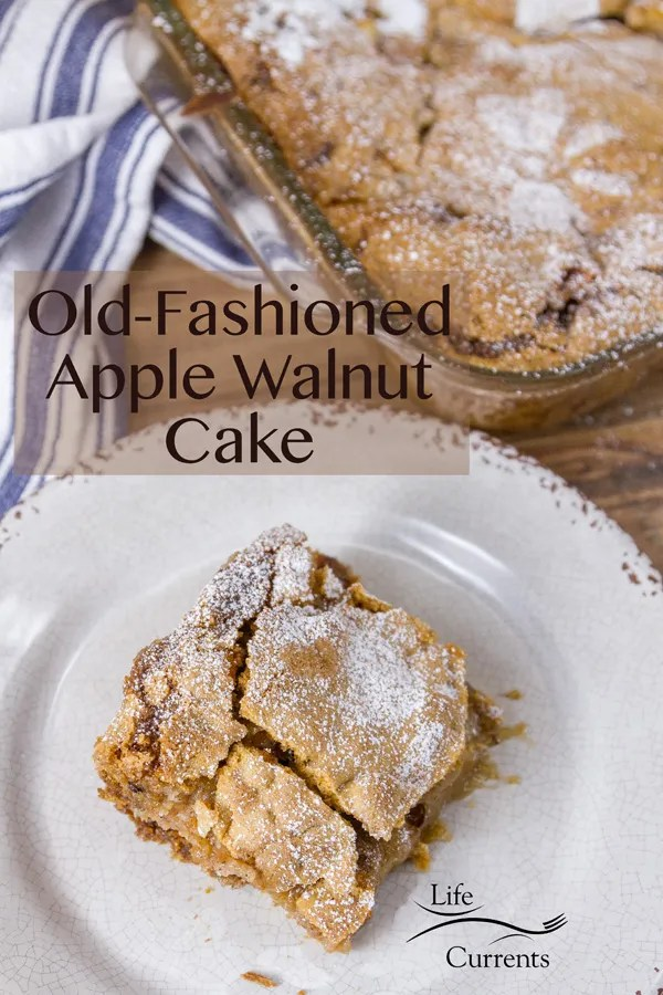 Old-Fashioned Apple Walnut Cake has an amazing crust that's crunchy and sweet. The apples add sweetness and moisture, while the walnuts add just the right amount of nutty crunch.