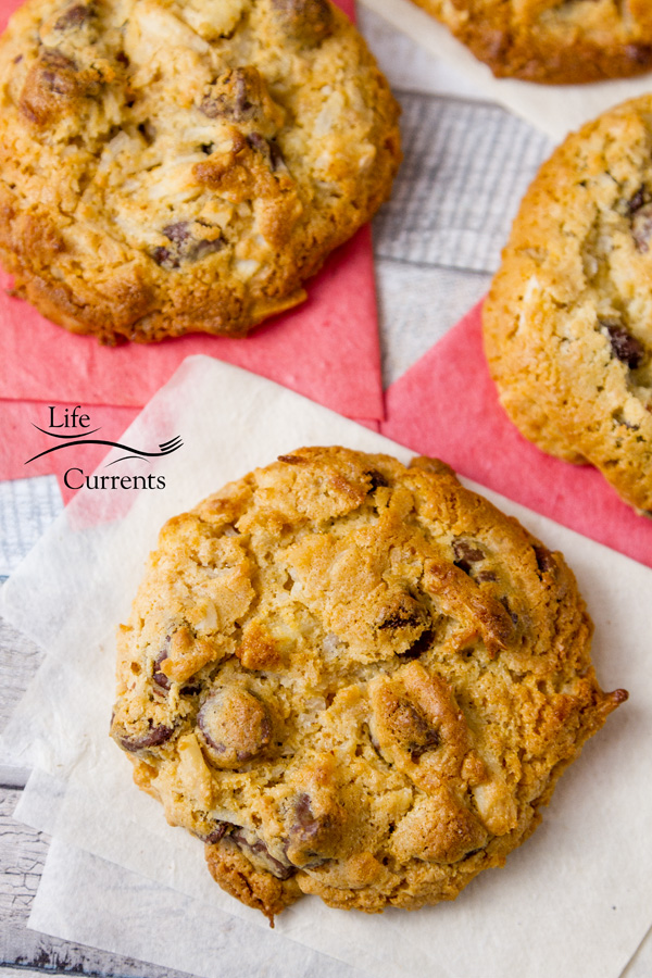 Chocolate Chip Treasure Cookies - you'll love the ease of a drop cookie during the holidays. For that matter, these cookies are a great year-round treat!
