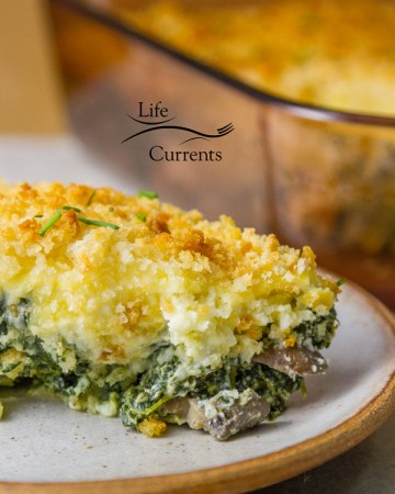 Spinach Mushroom Gratin - It's the perfect side dish for any family gathering, especially a nice holiday meal.