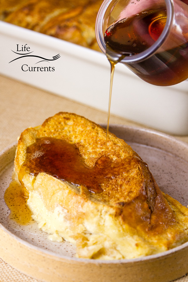 Delicious Baked Cream Cheese French Toast Casserole that you can make ahead or make the same day (your choice).