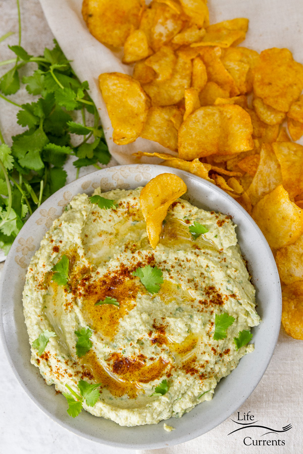 Roasted Jalapeño and Avocado Hummus Recipe - easy to make and delicious