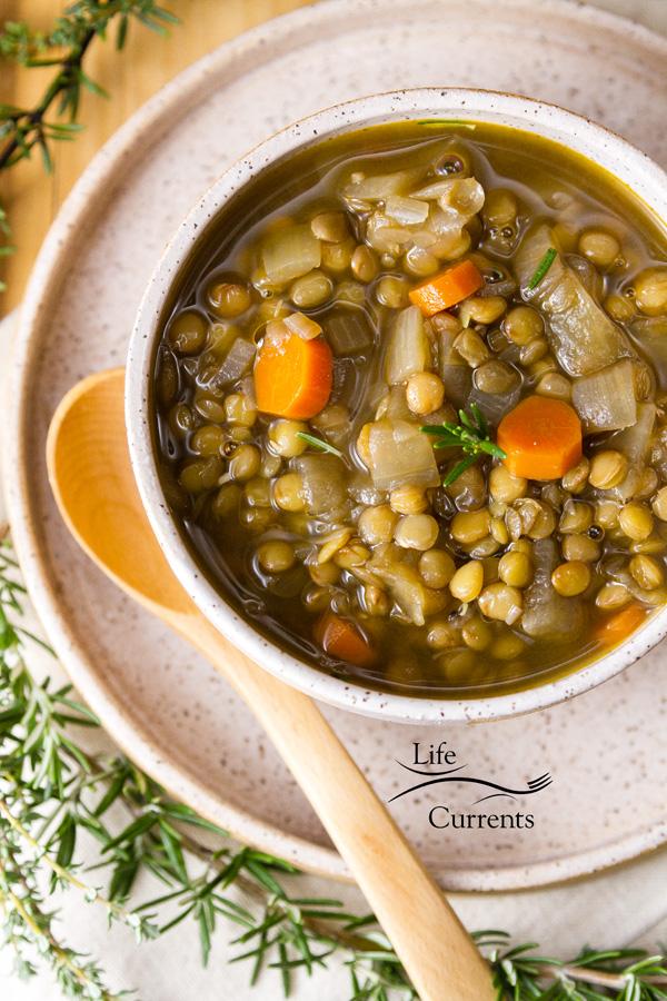 Vegan Gluten free Lentil Soup Recipe