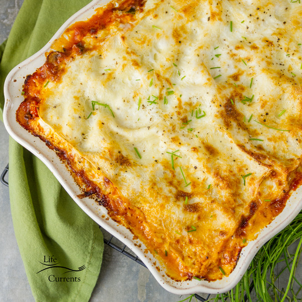 Vegetarian Vegetable Lasagna Recipe - you won't miss the meat.