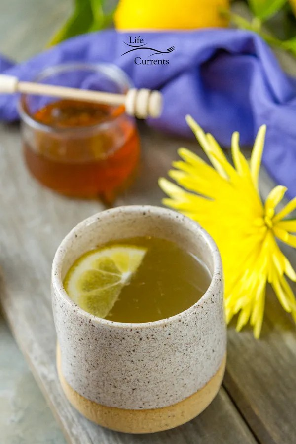 Honey Lemon Cold and Flu Remedy Drink - It has 4 simple ingredients that are in most kitchens