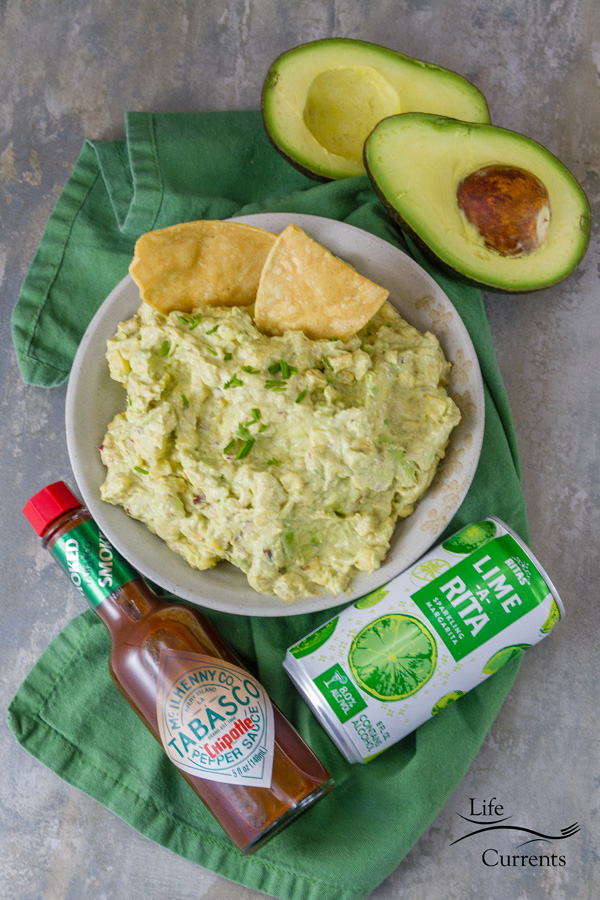 Chipotle Corn Guacamole Recipe - a fun appetizer for game day!