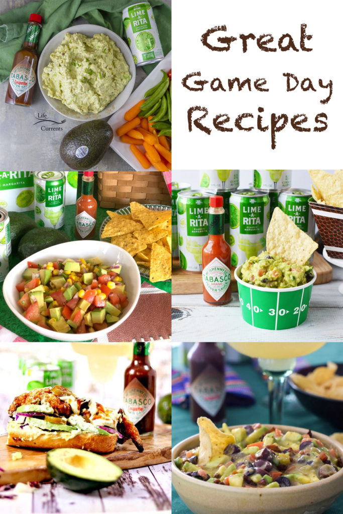 collage of great game day recipes
