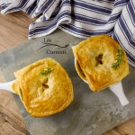 Sausage and Potato Pot Pie - They're great comfort food for when the air is chilly and you need something warm and yummy in your tummy.