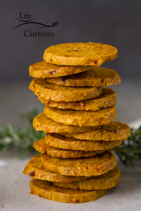 Chile Cumin Cheddar Crackers - the dough for these homemade slice and bake crackers comes together in minutes.
