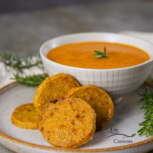 Chile Cumin Cheddar Crackers to snack on them by themselves. They have enough flavor and personality to keep you happy.