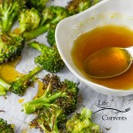 Honey Orange Roasted Broccoli – It goes great with Asian food night. Some steamed rice. A nice simple stir fry. Some Asian tofu – oh and this sauce would be fabulous over your whole meal.