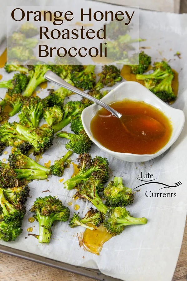 Honey Orange Roasted Broccoli is a great quick and easy side dish for Asian food night.