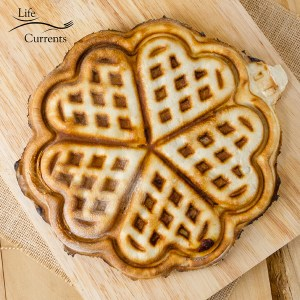 Waffle Iron Stuffed Pizza or Waffle Iron Calzones are easy to make with Rhodes Bake-N-Serv® premade dough and a Nordic Ware