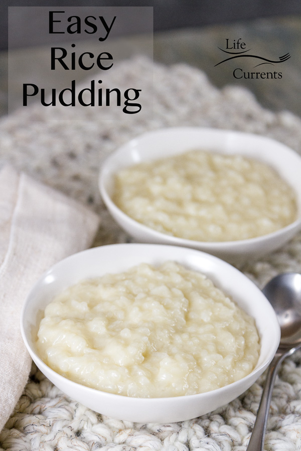 Easy Rice Pudding using leftover cooked rice is so comforting and homey, and it's the perfect way to use up that leftover rice.