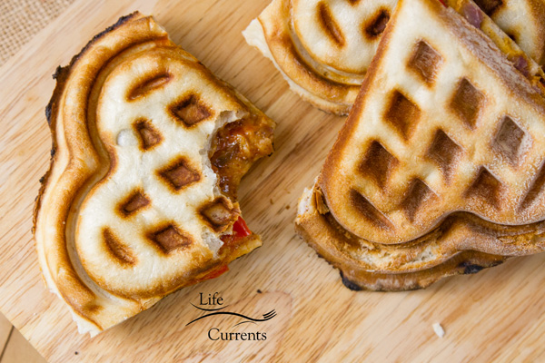 Waffle Iron Stuffed Pizza We tested this recipe several times in different ways and think we came up with a great pizza!