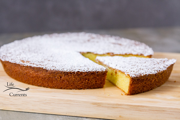 Almond Cake {with a gluten-free option} And this can easily be made into a gluten free cake recipe.