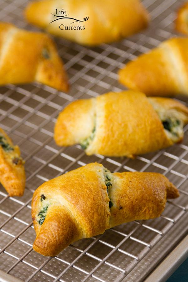 Spinach Mushroom Crescents Recipe the whole family will love