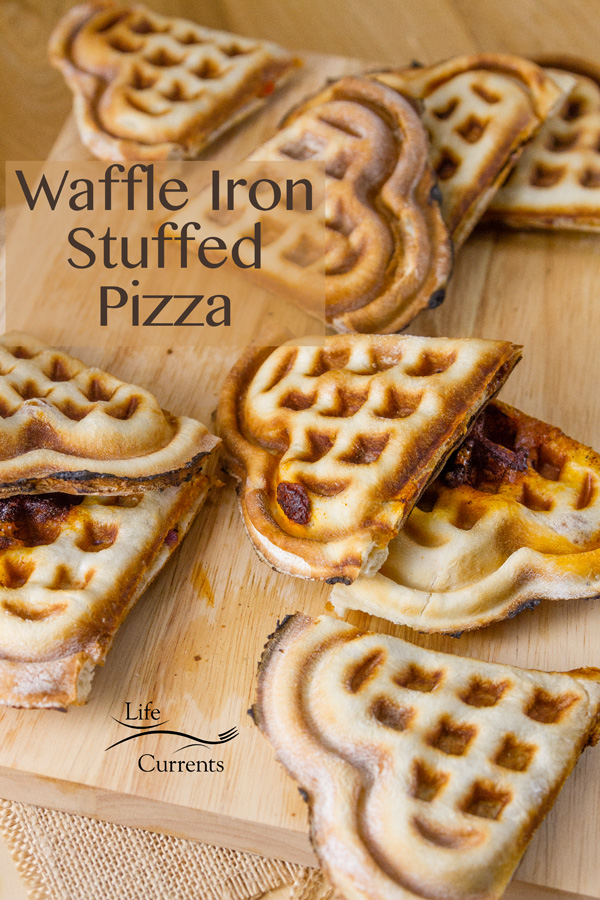 So much fun and so full of love, these heart shaped Waffle Iron Stuffed Pizza sections will melt the heart of anyone, especially when you serve them for brunch!