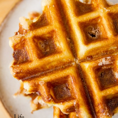 Belgian Liège Waffles Recipe- you'll love these sweet dessert treats