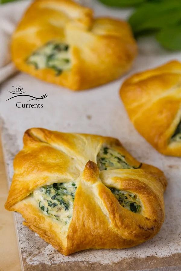 Spinach Mushroom Crescents Recipe - a great vegetarian main dish