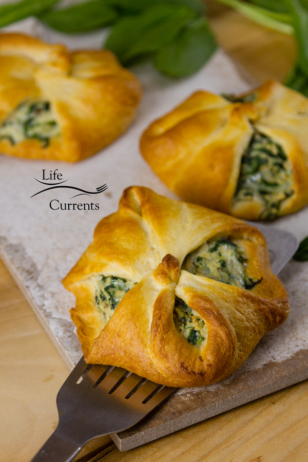 Spinach Mushroom Crescents – make it a bigger crescent that's filled with yummy spinach and mushroom goodness and serve it as a main dish.