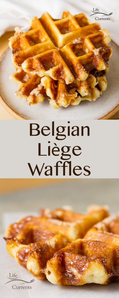 Belgian Liège Waffles are a sweet treat like a doughnut, or like some fried dessert dough treat you might get at a state fair. They're not like a traditional American breakfast waffle.
