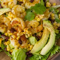 Shrimp and Mexican Street Corn Bowl
