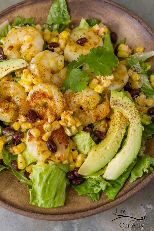 Shrimp and Mexican Street Corn Bowl It's a Mexican bowl that's everything you want in a an easy and tasty 30-minute meal.