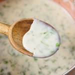 So if you have a basil plant in your garden, and it's growing like crazy. You might be looking for fun new ways to use that basil. This Creamy Basil Sauce is just the ticket.