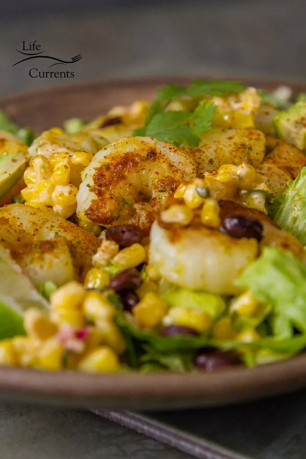 Shrimp and Mexican Street Corn Bowl Recipe - an easy to make 30 minute healthy meal