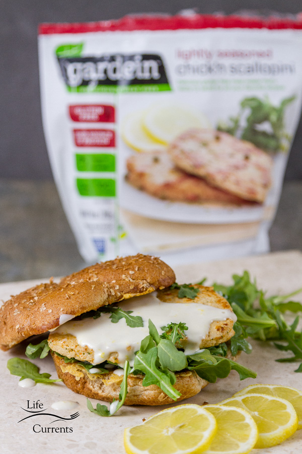 Chicken Scaloppini Sandwich - Meatless Monday has partnered with Gardein and Life Currents on an Earth Month campaign to promote plant-based eating.