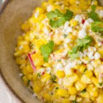 It's easy to make Mexican Street Corn Salad (esquites), and you're going to fall in love with the flavors -- a smoky, sweet, spicy, tangy, and easy to make side dish is also called esquites.