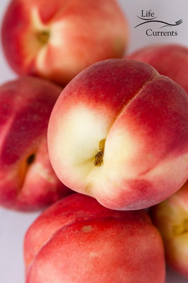 a pile of fresh peaches