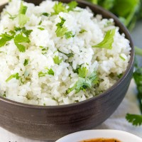 Pressure Cooker Cilantro Lime Rice